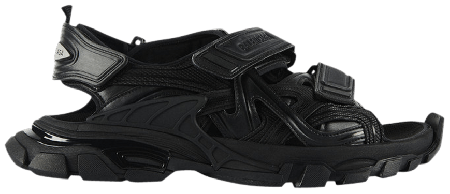UA Balenciaga Track Sandal Triple Black