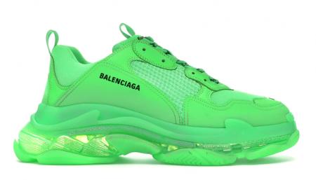 UA Balenciaga Triple S Neon Green Clear Sole