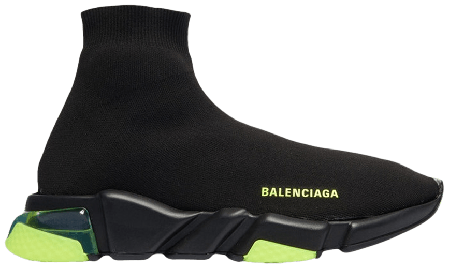 UA Balenciaga Speed Trainer Clearsole Yellow Fluo