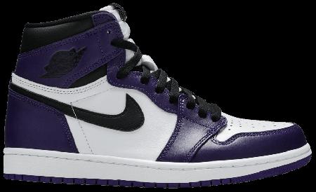 UA Air Jordan 1 Retro High Court Purple White
