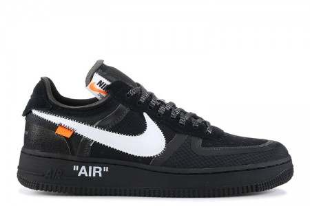 "The 10:  UA Nike Air Force 1 Low ""Off White"" Black"