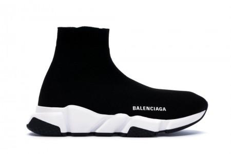 UA Balenciaga Speed Trainer Black White (2018)