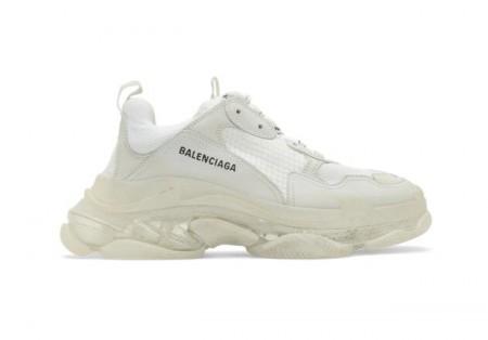 UA Balenciaga  White Triple S Clear Sole Sneakers