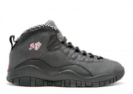 UA Air Jordan 10 Retro Black Dark Shadow
