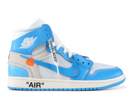UA Air Jordan 1 X Off White University Blue for Sale