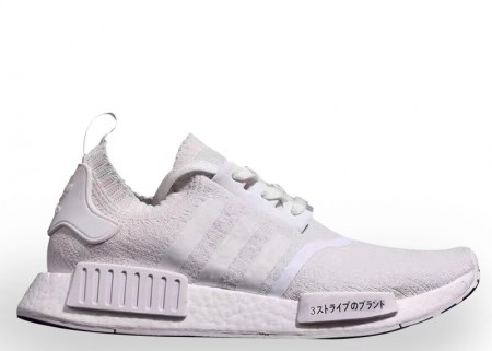 UA Adidas NMD R1 PK Triple White for Sale