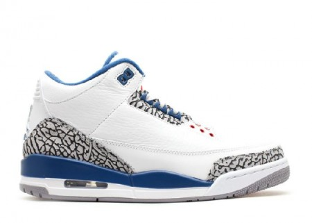 UA Air Jordan 3 Retro 2013 Release White True Blue