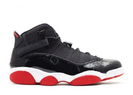 UA Air Jordan 6 Rings 2013 Release Black Varsity Red White