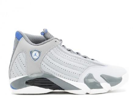 UA Air Jordan 14 Retro Sport Blue Wolf Grey