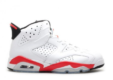 UA Air Jordan 6 Retro Infrared Pack White Red