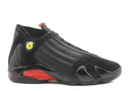 UA Air Jordan 14 Retro Black Varsity Red Black