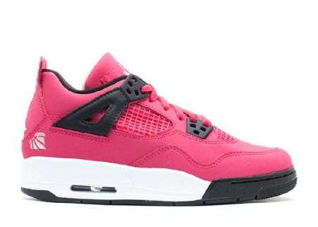 UA Girls Air Jordan 4 Retro Gs Voltage Cherry White Black