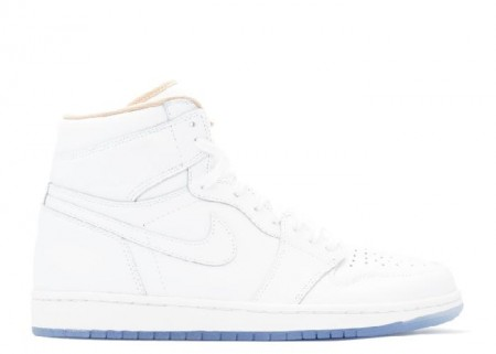 UA Air Jordan 1 Retro High La Los Angeles White, Metallic Gold for Sale