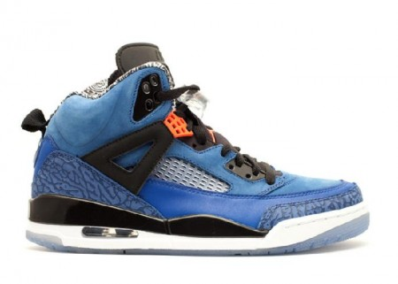 UA  Air Jordan Spiz'lke New York Knicks Blue Ribbon ORnge Flash Black White