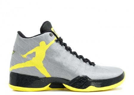UA Air Jordan 29 PE Oregon Ducks Silver Yellow Black