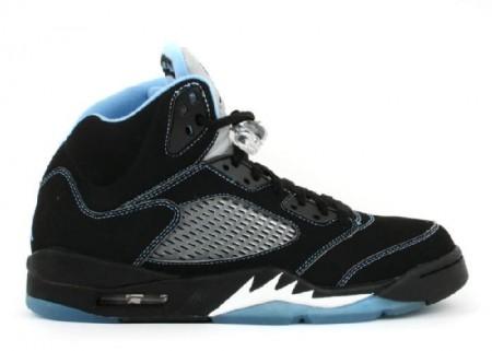 UA Air Jordan 5 Retro Ls Black University Blue White