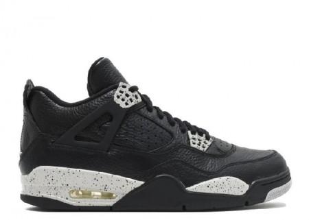 UA Air Jordan 4 Retro Oreo Ls Black Tech Grey Black