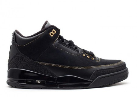 UA Air Jordan 3 Black History Month Black Metallic Gold