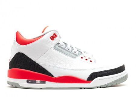 UA Air Jordan 3 Retro 2013 Release White Fire Red Silver Black