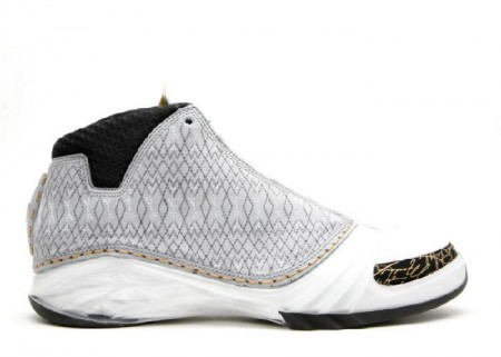 UA Air Jordan 23 White Stealth Black Metallic Gold