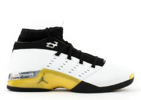 UA Air Jordan 17 Low White Lighting Black Chrome