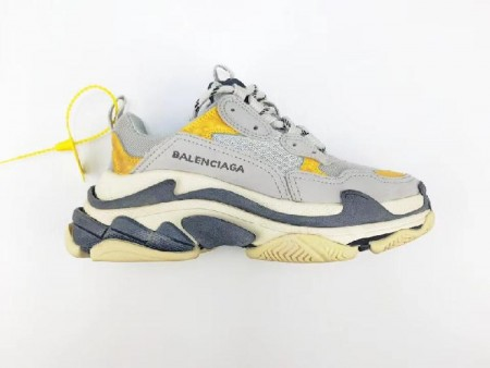 UA Triple S Grey Yellow Sneakers Online