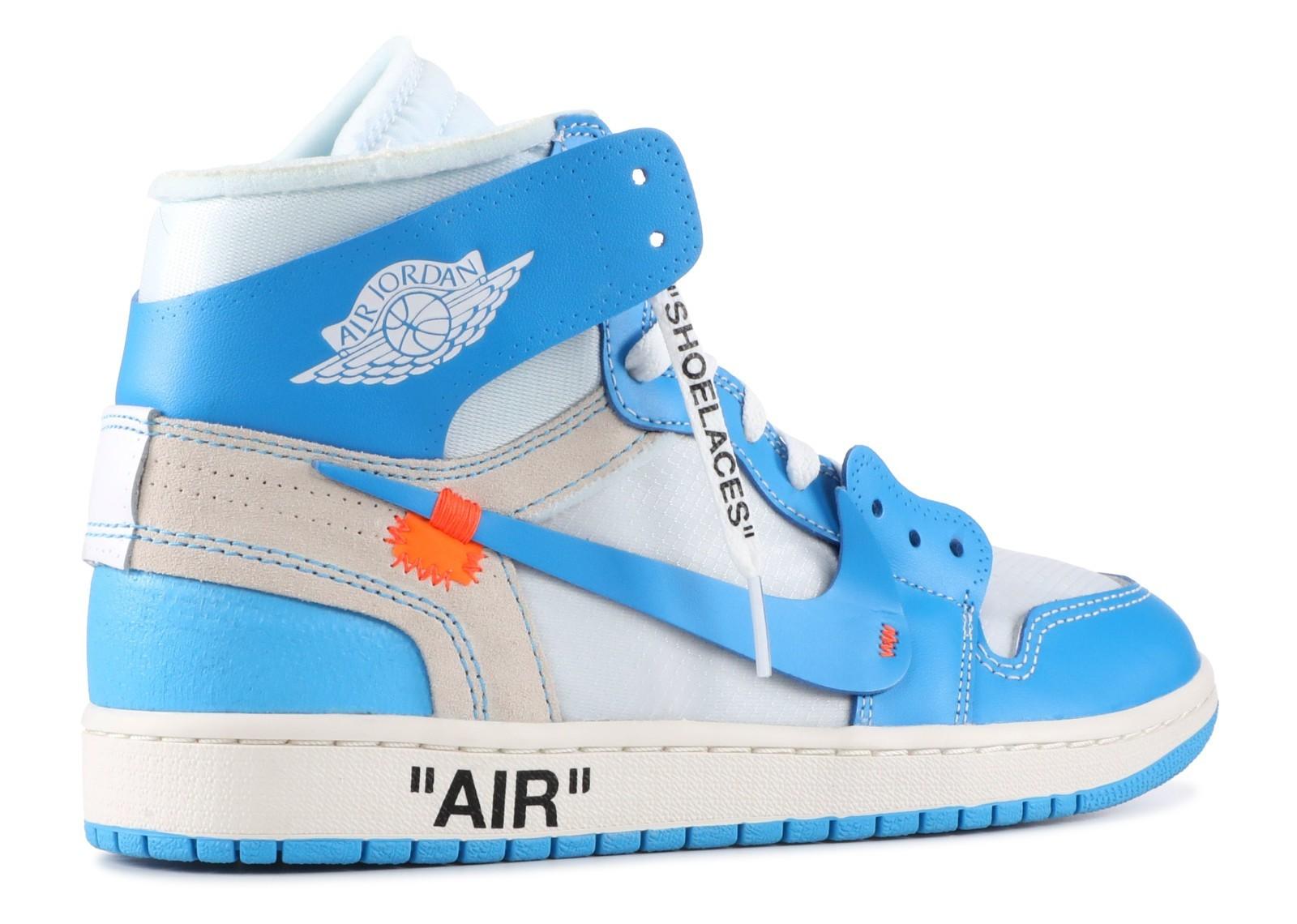 the best attitude 8103b 8c7f3 UA Air Jordan 1 X Off White University Blue for Sale