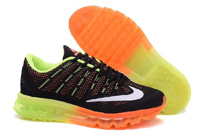 new concept 16705 86048 Best Nike Air Max 2016 Black Orange Yellow Running Shoes Reps for Sale