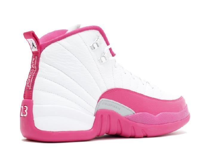 5f69471a574 UA Air Jordan 12 Retro GG(GS) Valentine's Day White Vivid Pink Metallic  Silver