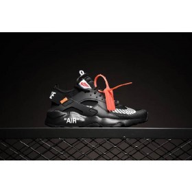 UA Off White X Air Huarache Anniversary Mesh Running Black On Sale