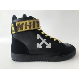 "UA ""Off White Yellow Logo White Arrows Black High On Sale"