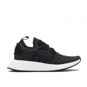 UA Adidas NMD R2 PK W Utility Black Core Black White Running Shoes Online