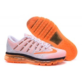 Uncostly Nike Air Max 2016 For Sale Black Orange White Online Running Shoes