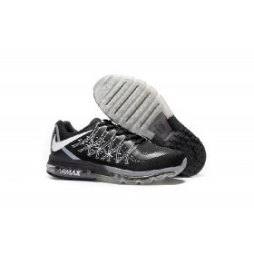 Air Max 2017 Black White Net Sports Shoes