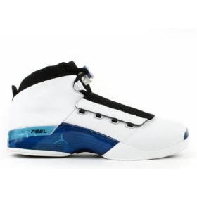 UA Air Jordan 17 White College Blue Black