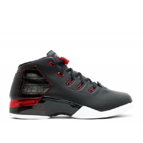 UA Air Jordan 17+ Retro Bulls Black Gym Red White