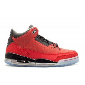 UA Air Jordan 3 Retro Doernbecher Varsity Red Black Metillc Silver