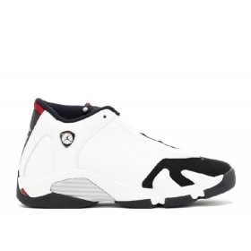 UA Air Jordan 14 Retro(GS) Black Toe White Black Varsity Red Metallic Silver