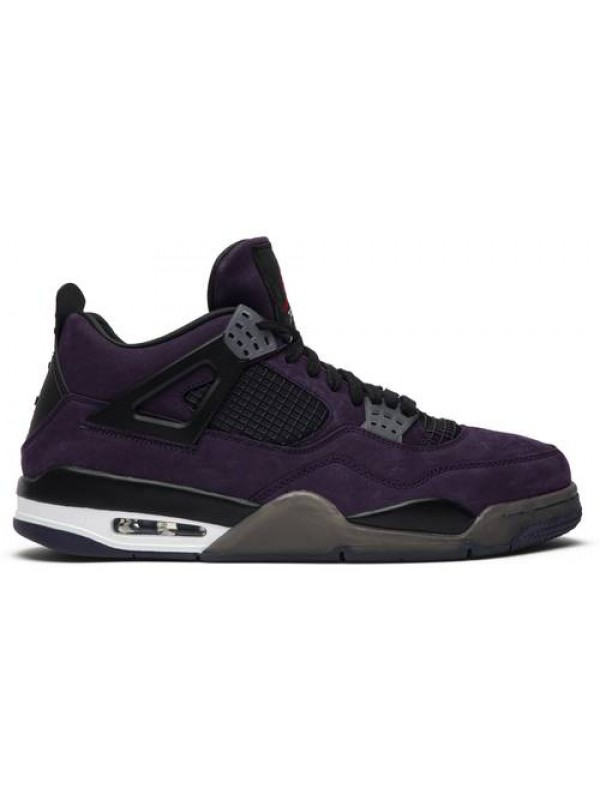 UA AIR JORDAN 4 RETRO TRAVIS SCOTT PURPLE (FRIENDS AND FAMILY)
