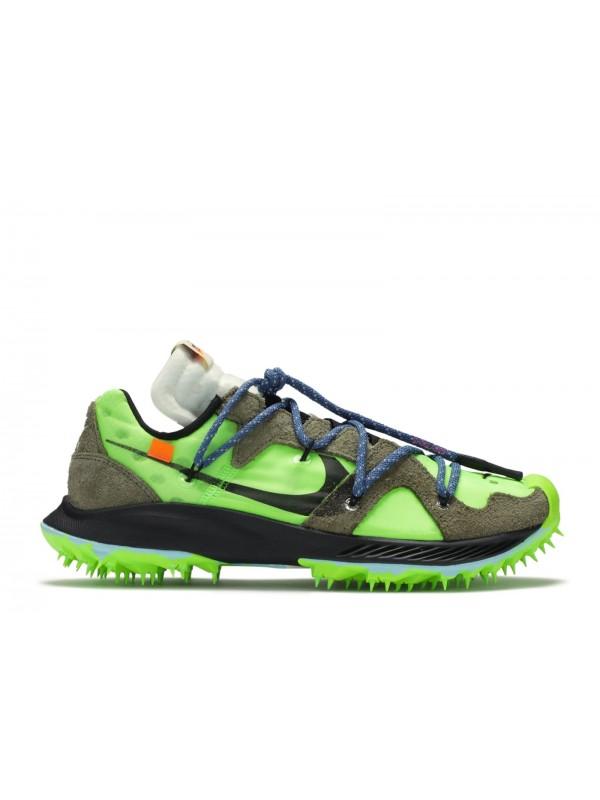 UA Nike Zoom Terra Kiger 5 Off-White Electric Green
