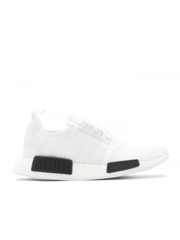 UA NMD R1 W White Black Sneakers