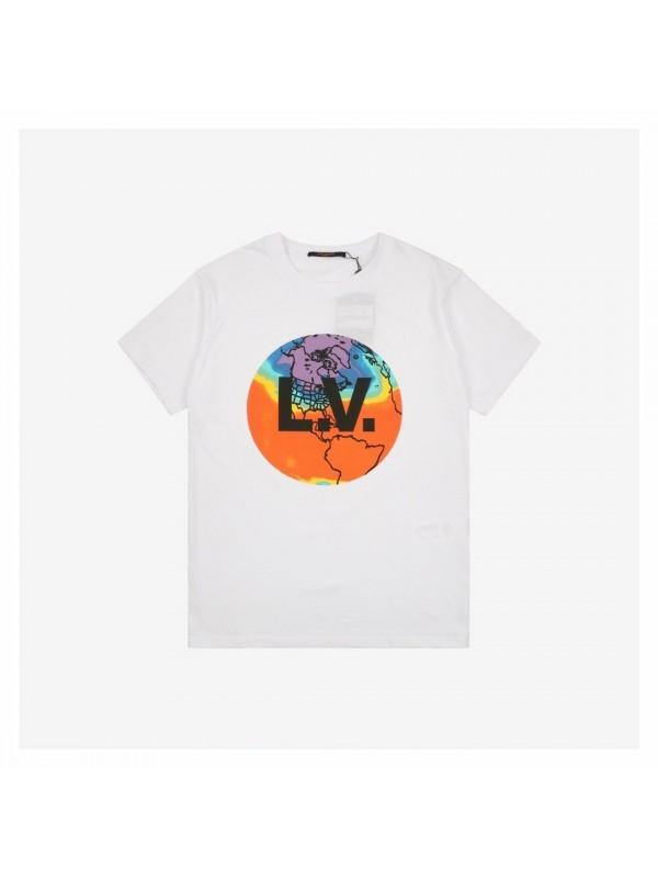 UA LV Earth Print T-Shirt White