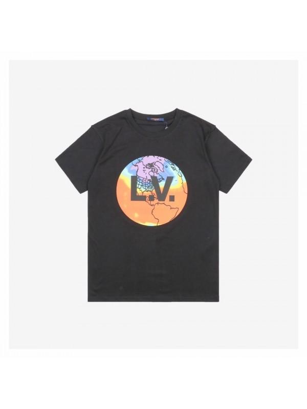 UA LV EARTH PRINT T-SHIRT BLACK