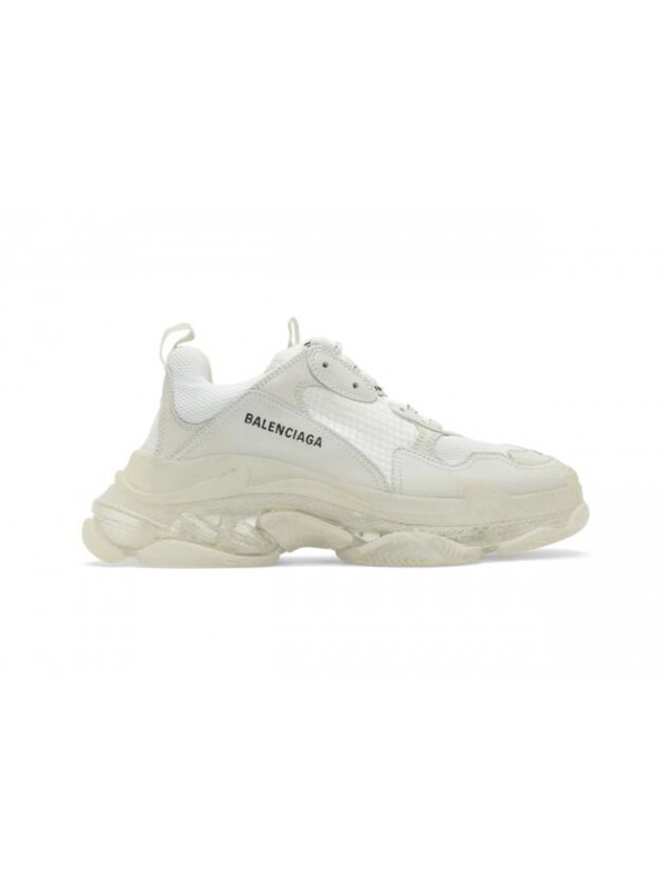 UA Balenciaga  White Triple S Clear Sole Sneakers