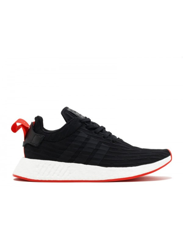 UA Adidas NMD R2 PK Black Black Red Sneakers for Sale Online