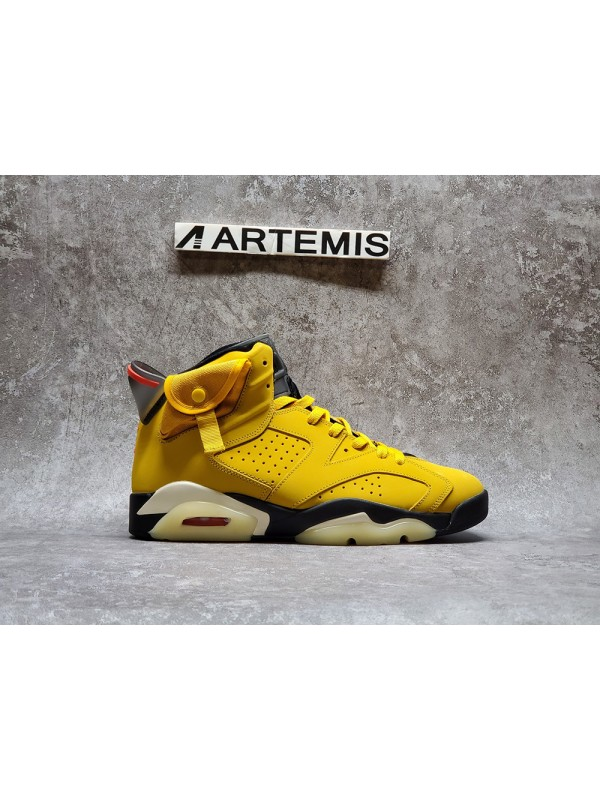 UA Air Jordan 6 Travis Scott X Retro Cactus Jack Yellow