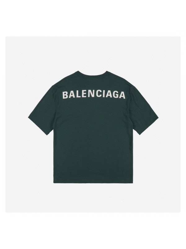 UA BALENCIAGA LOGO PRINTED T-SHIRT DARK GREEN