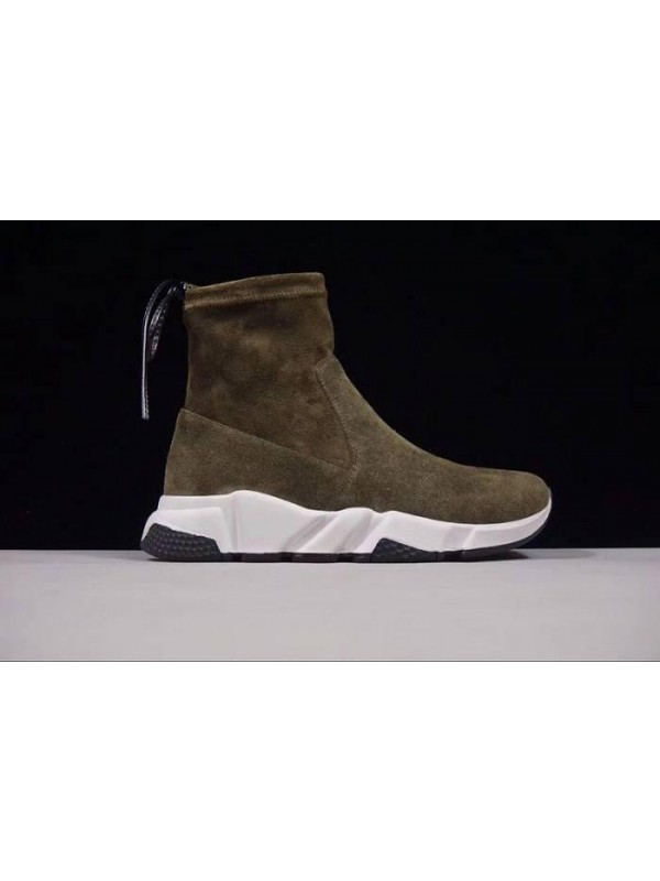 UA Fall/Winter Sheepskin Dark Green Sneakers Online
