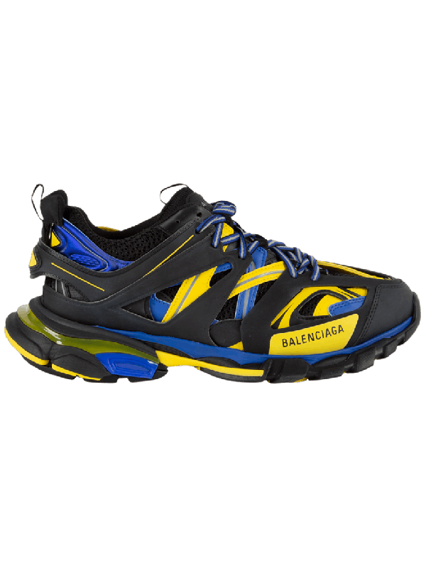 UA Balenciaga Track Trainer Black Yellow Blue