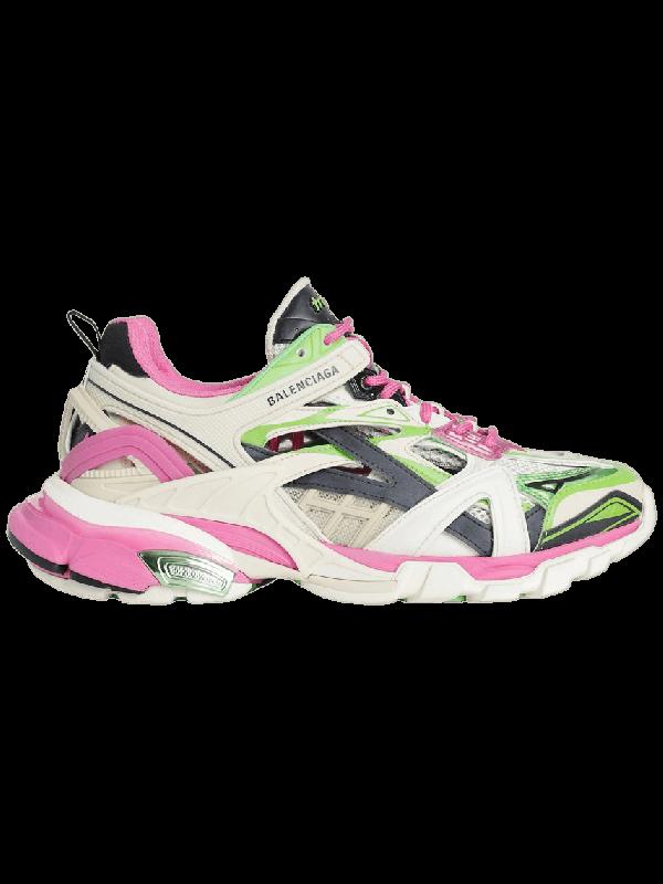 UA Balenciaga Track.2 Pink Green